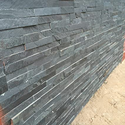 3d Stone Cladding Walls Art 25 Pcs Cladding Tiles 35x10cm Black
