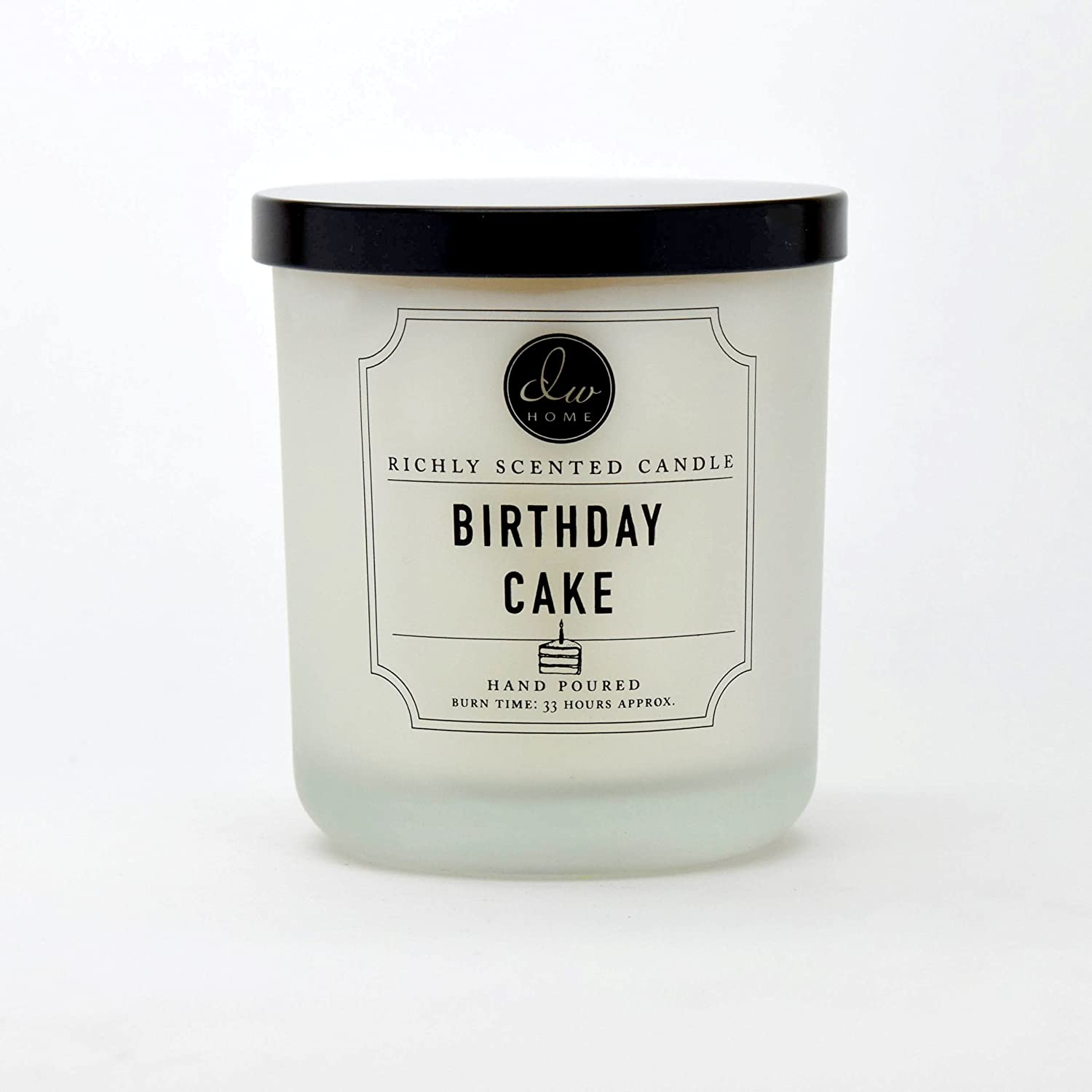 DW Home Medium Single Wick Candle, Birthday Cake