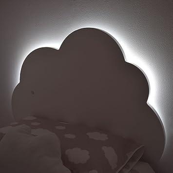 Bainba Cabecero Infantil Nube con Luz, para colchones de 90: Amazon.es: Hogar