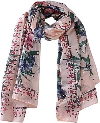 Women/'s Fashion Printed Shawl Head Scarves Flowers Long Scarf Sunscreen Shawl