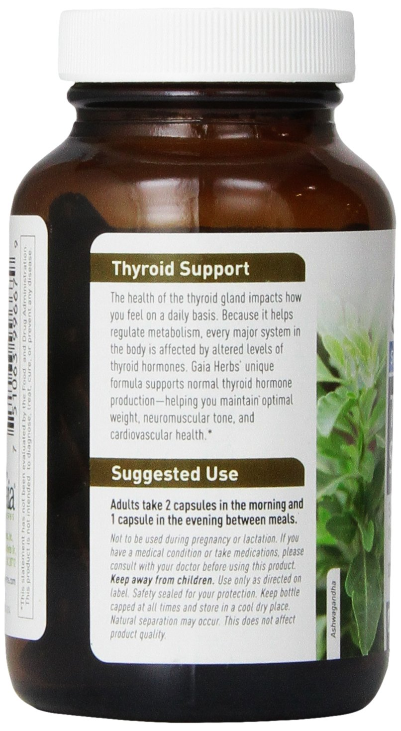 Cheapest amazon herbs - Amazon Com Gaia Herbs Thyroid Support Liquid Phyto Capsules 120 Count Health Personal Care