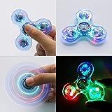Fancyku LED Glowing In The Dark, Crystal Finger Spinner