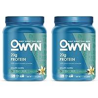OWYN 100% Plant-Based Vegan Allergen-Friendly Protein-Powder, 28 Servings, 2 Count (Smooth Vanilla)