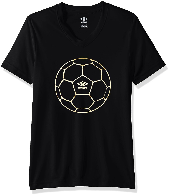 Umbro Girls Football Gold Poly Short Sleeve Top