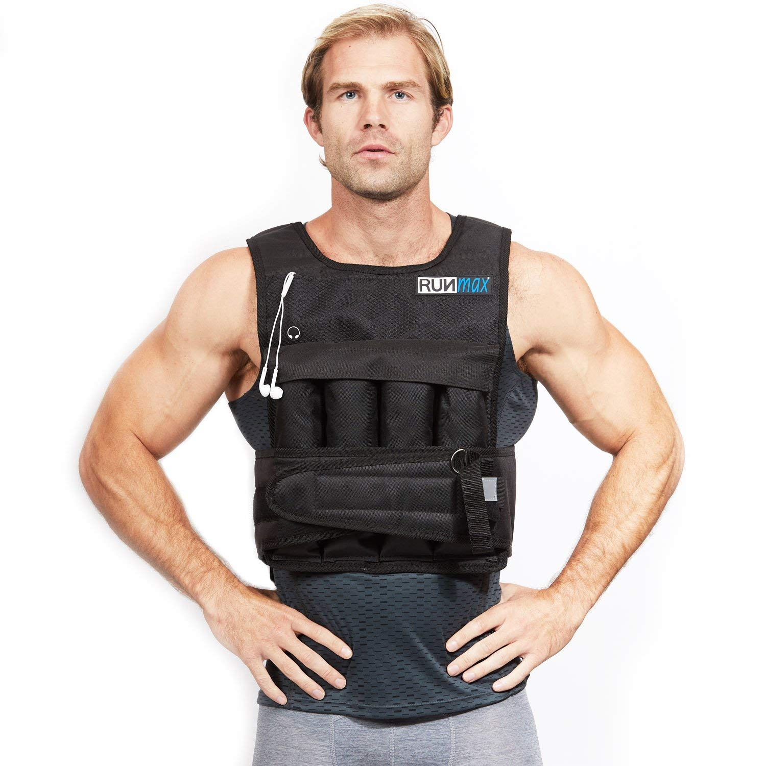 RUNFast Pro Weighted Vest 12lbs-60lbs (with Shoulder Pads, 12 LB)