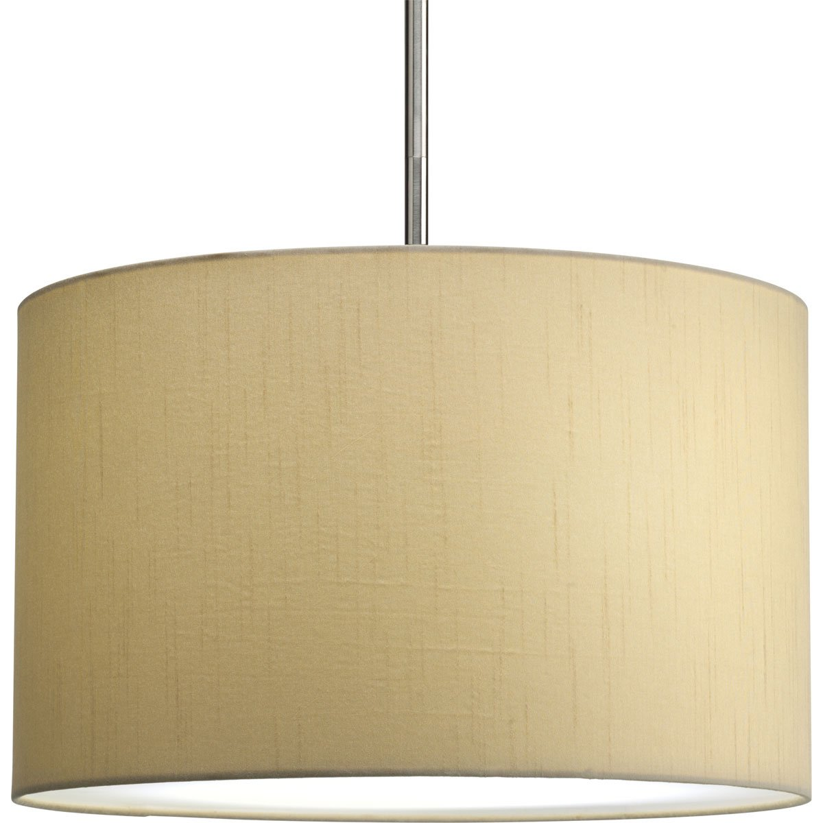 Progress lighting p8823 01 16 inch drum shade beige silken fabric progress lighting p8823 01 16 inch drum shade beige silken fabric with full modular pendant requires 1 light stem p5198 or 3 light stem p5199 to make mozeypictures