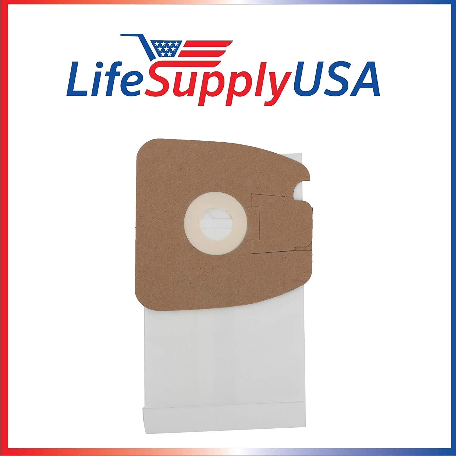 LifeSupplyUSA 2 Packs of 3 (6 pcs) Vacuum Bags Compatible with Eureka MM, Mighty Mite SC3683 3681B-1 S3681