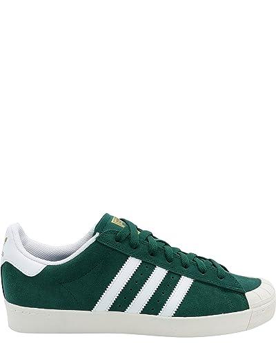 the best attitude b7e8c 7fd98 adidas Mens Half Shell Vulc AD Sneaker,9.5 GreenWhite