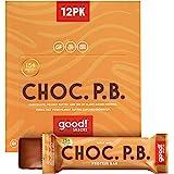 good! Snacks Vegan Chocolate Peanut Butter Protein Bar   Gluten-Free, Plant Based, Low Sugar, Kosher, Soy Free, Non GMO   15g