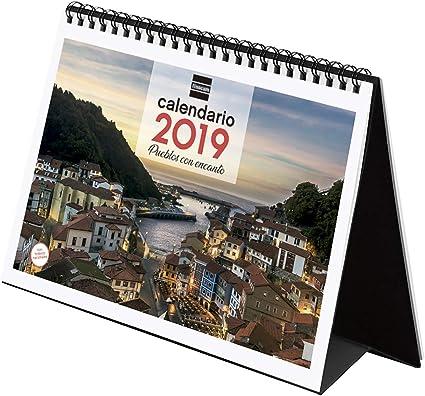 Finocam 780323319 - Calendario sobremesa 2019: Amazon.es: Oficina y papelería
