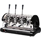Commercial Pull Lever Espresso Machine 3 Groups (Black)