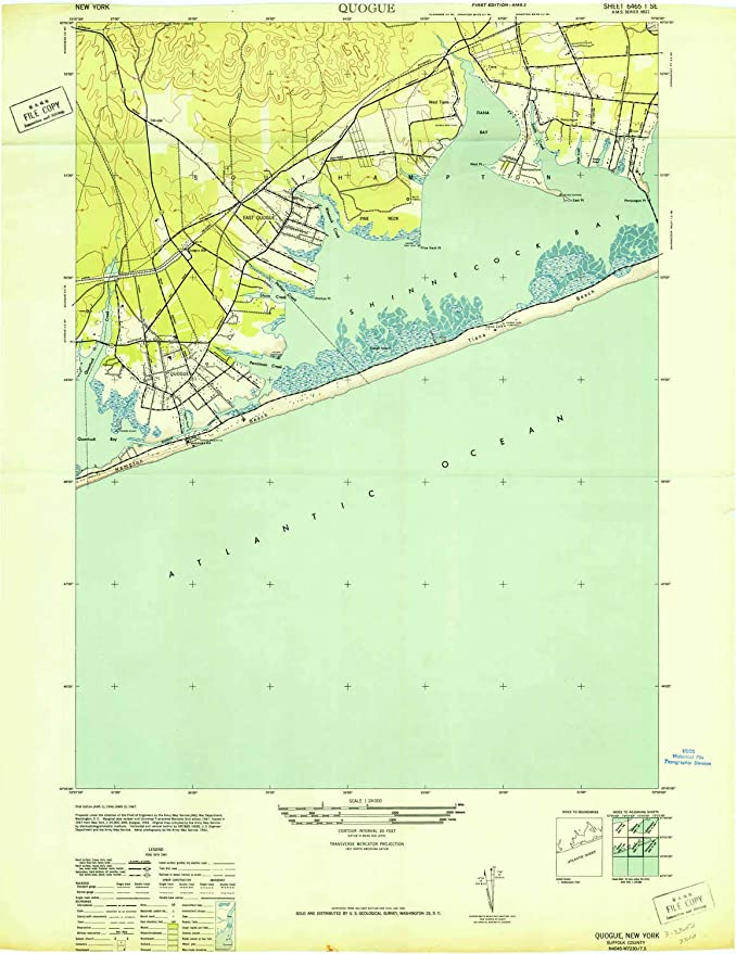 Map Of Quogue New York.Amazon Com Yellowmaps Quogue Ny Topo Map 1 24000 Scale 7 5 X 7 5
