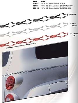 Black on clear Chevrolet Bowtie Stripe 1//2 X 150-055