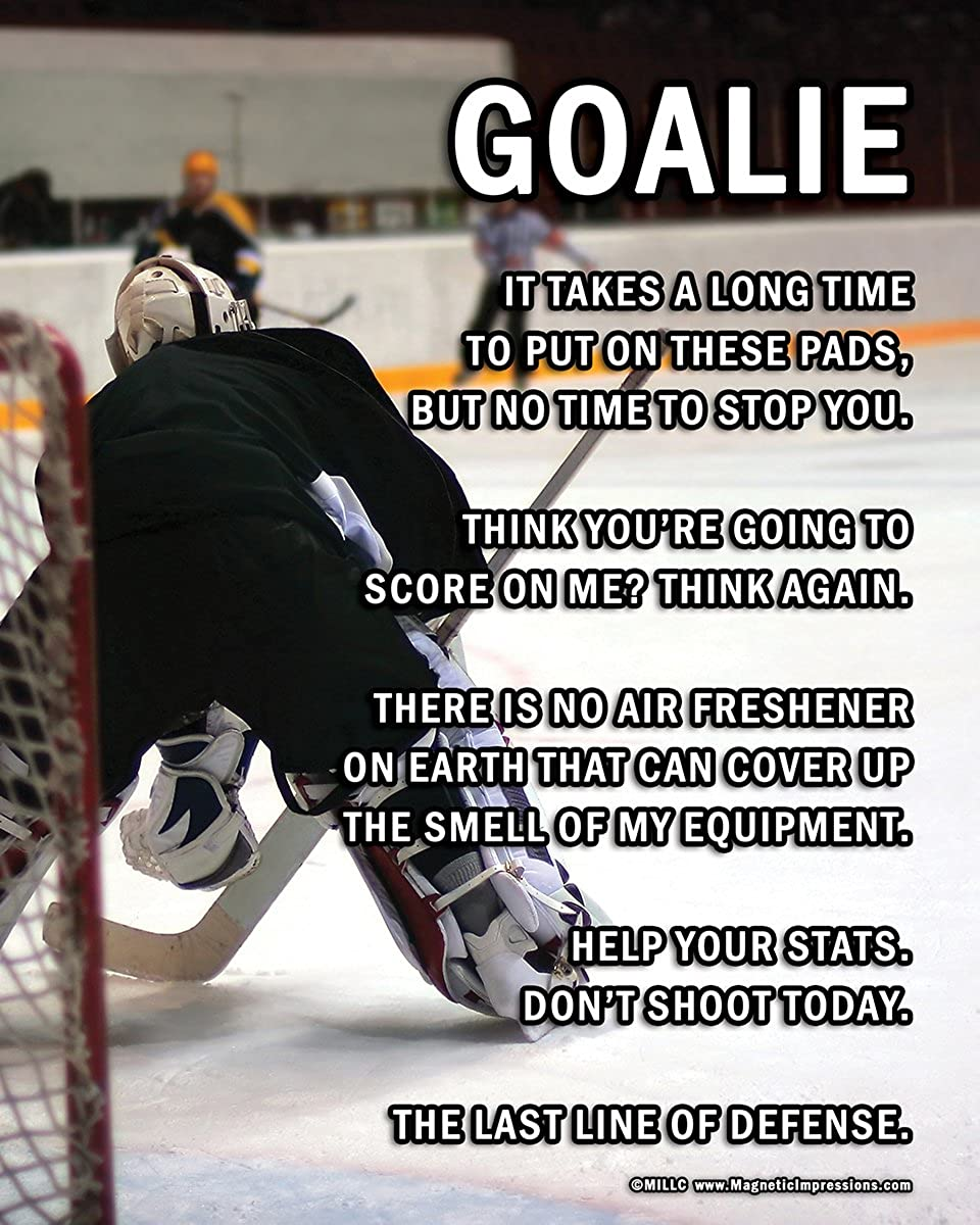 "Unframed Ice Hockey Goalie on Ice 8/"" x 10/"" Sport Poster Print"