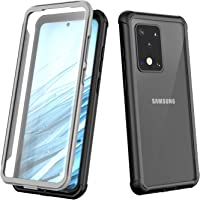 Port Wireless Heavy-Duty Case with Built-in Screen Protector for Samsung Galaxy S20 Ultra–– Full Body Case (Black/Grey)