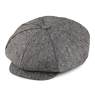 6890c8a2b658f Jaxon & James Marl Tweed Big Apple Cap - Black