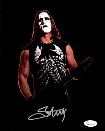 sting tna wwe wcw signed autographed 8x10 photo authenticated 1