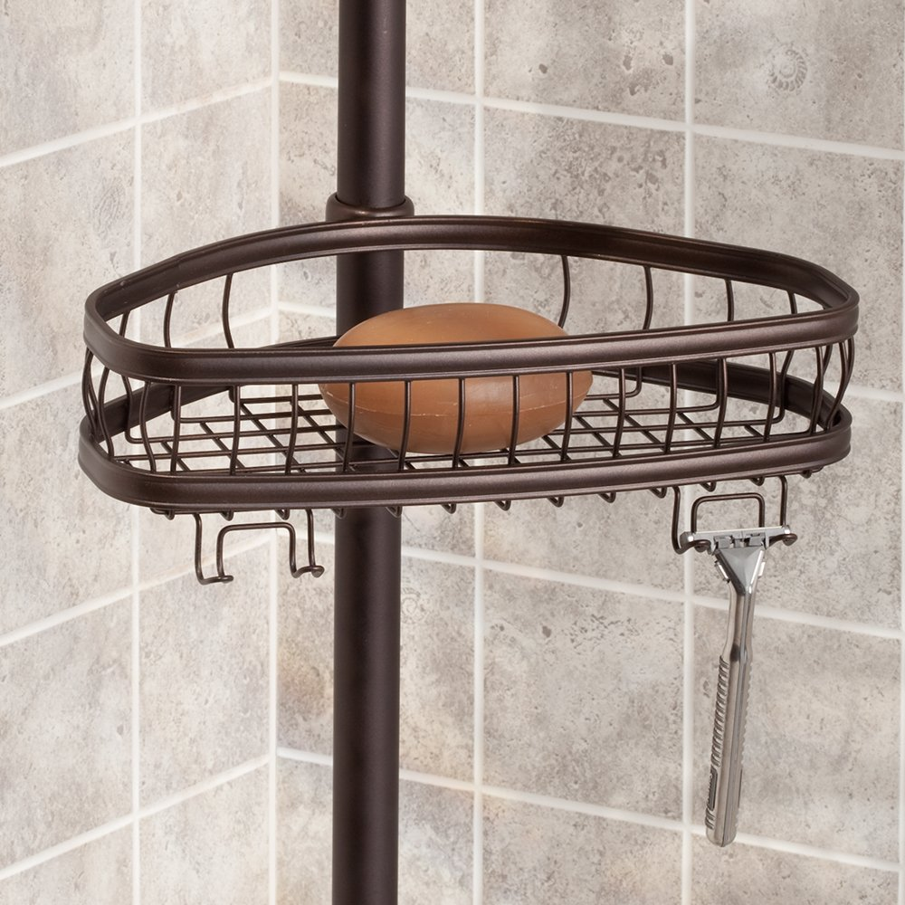 InterDesign York Constant Tension Shower Caddy – Bathroom Storage Shelves for Shampoo, Conditioner, Soap and Razors, Bronze by InterDesign (Image #6)