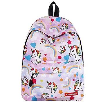 Unicorn Backpack for Girls,Kids School Bags Children Back to School  Rucksack Adult Backpacks Child Teens Outdoor Daypack  Amazon.co.uk  Luggage c32d83ed9d
