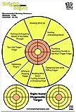 "12"" x 18"" - Fluorescent Pistol Diagnostic Shooting Target - Bright Sight + Free Splatter Target"