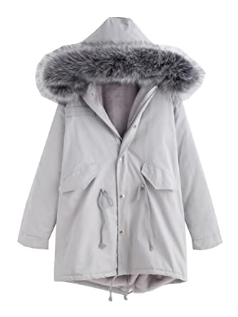Winterjacke grau fell