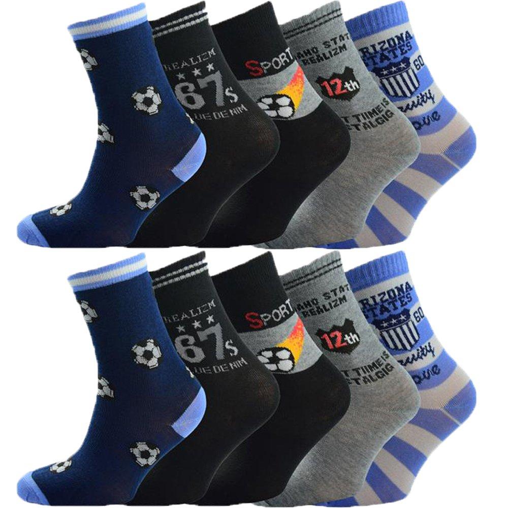 10 Stück Jungen Socken Größe 24-39 HR-397