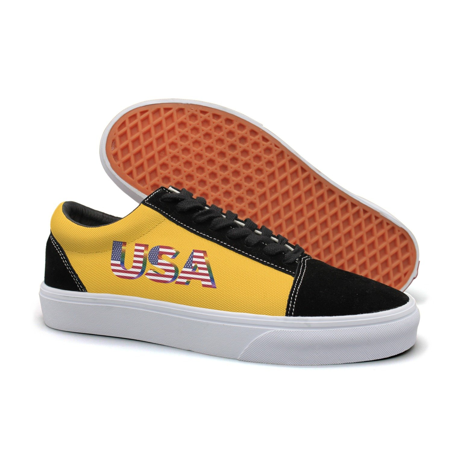 VCERTHDF Colorful Usa Flag Suede Slip-On Shoe Men