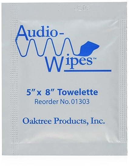 Audiowipes grapas para atado de desinfectante de toallitas 100 en los violines de tamaño