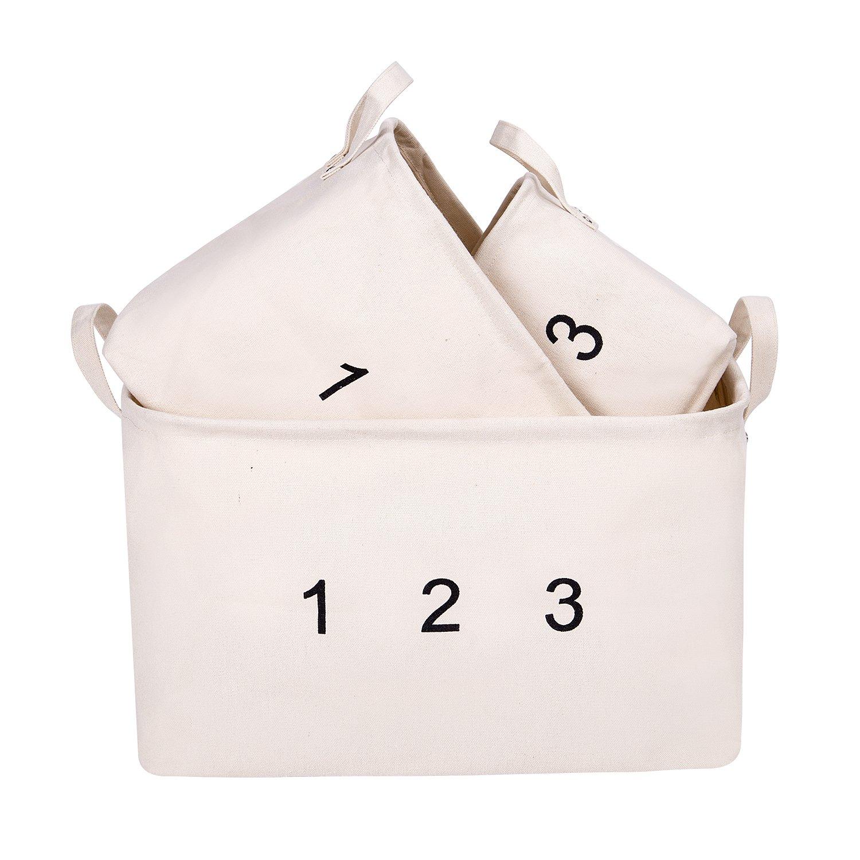 Aufbewahrungskorb mit Griff für Kleidung Handtücher Bücher Spielzeug ...