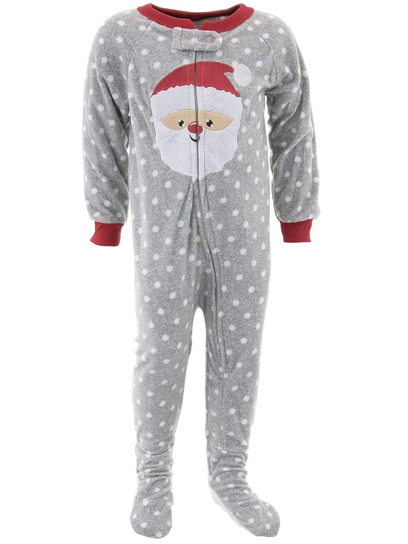 Mon Petit Little Girls Christmas Footed Pajamas