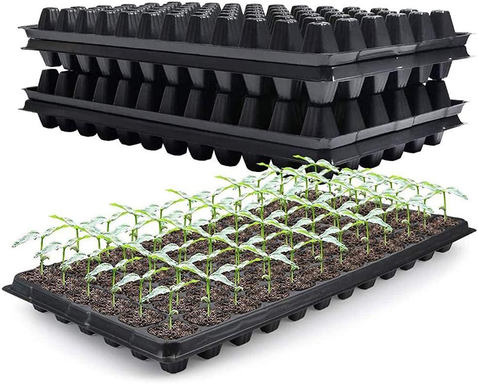 10-Pack Seed Starter Kit,72 Cell Seedling Trays Gardening Germination Plastic Plant Growing Trays Nursery Pots Mini Propagator Plant Grow Kit Plug Tray Starting Trays for Seedling Germination