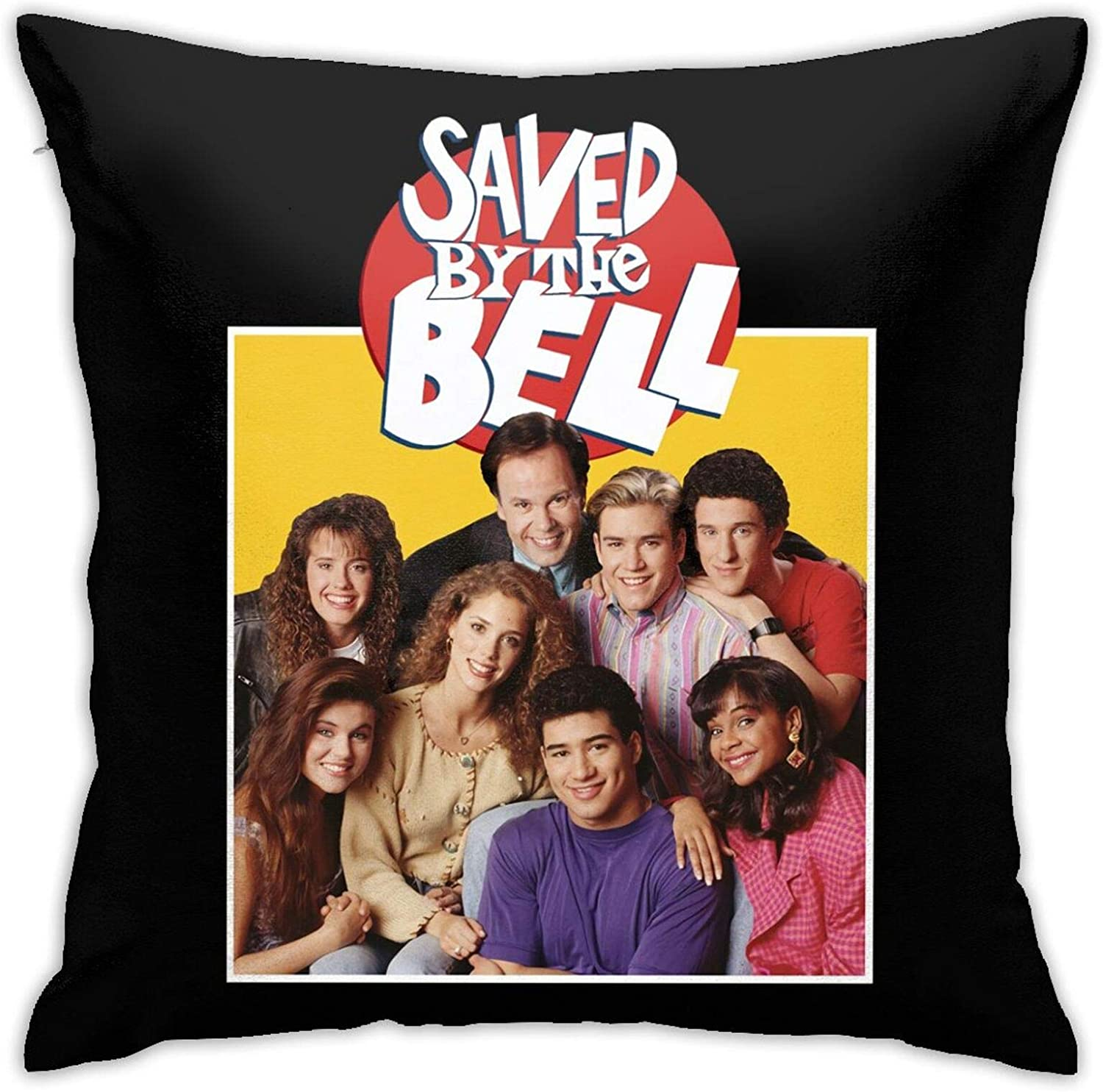 Atsh Saved by The Bell Home Throw Pillow Covers Top Square Decorative Pillow 18x18 Inch Throw Pillow Case for Room Bedroom Room Sofa Chair Car Decor