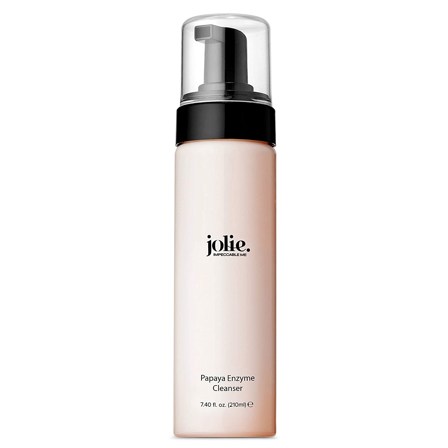 Jolie Papaya Enzyme Cleanser - Exfoliating Gentle Foaming Face Wash, Made with Natural Fruit Extract leaves - Papain, Cucumber & Sage - 7 oz.