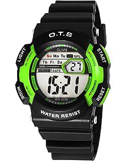 OTS - Reloj Digital Deportivo Impermeable Luminoso de Cuarzo con Alarma Cronómetro para…
