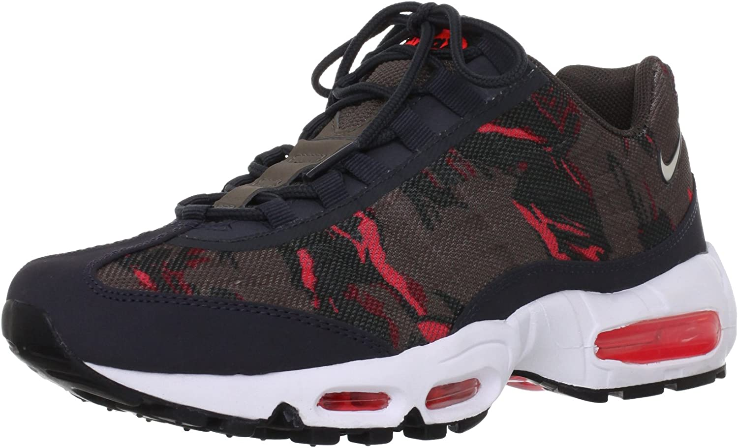 Nike Air Max 95 Premium Tape Brown -Red -Anthracite – Atomic Red