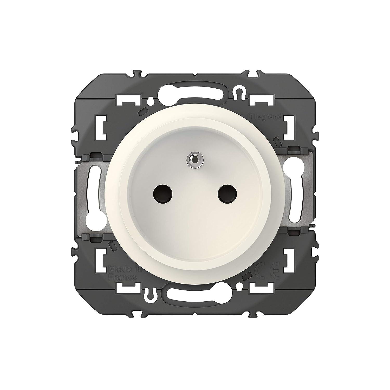 emballage blister Legrand LEG95217 RENOV BLC Compo Prise de courant easyr/éno 2P+T faible profondeur dooxie 16A finition blanc