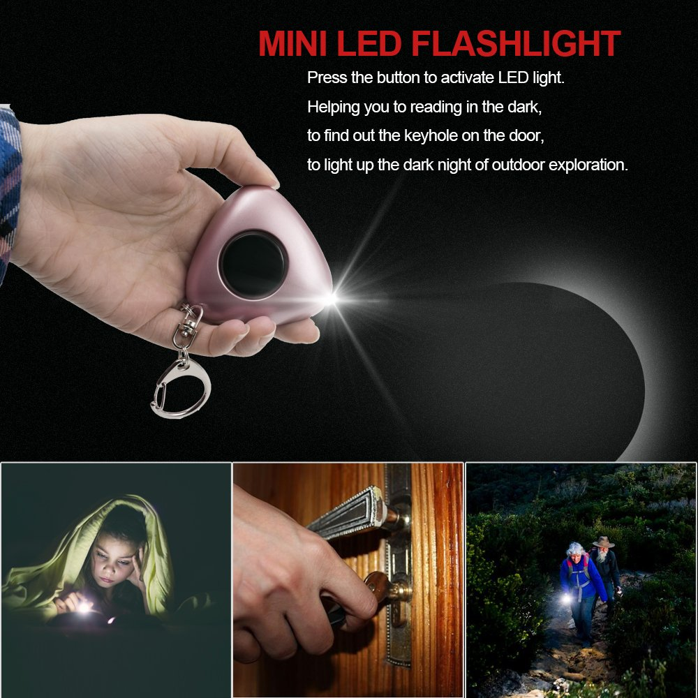 with LED Flashlight Keychain Self Defense SOS Emergency Siren Alarm for Women MODAR Personal Alarm 120dB 2 Pack Elderly Students Kids
