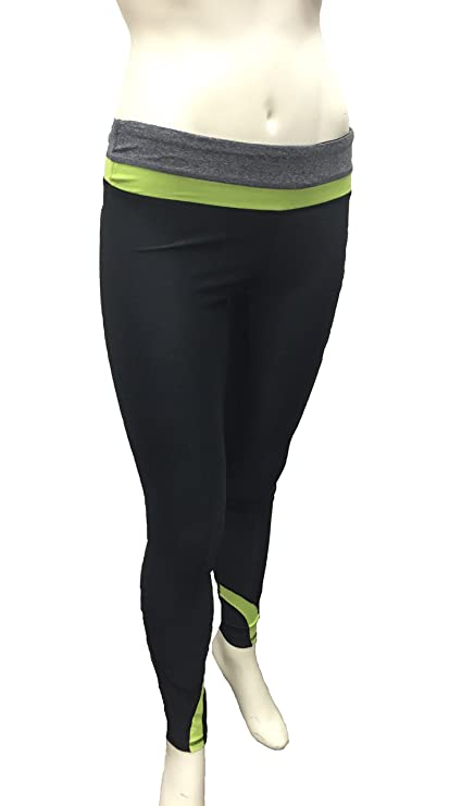 aacb923d4f7db Amazon.com : Vogo Athletics Yoga Pants (BLACK /HTR CHARCOAL /N.GREEN ...