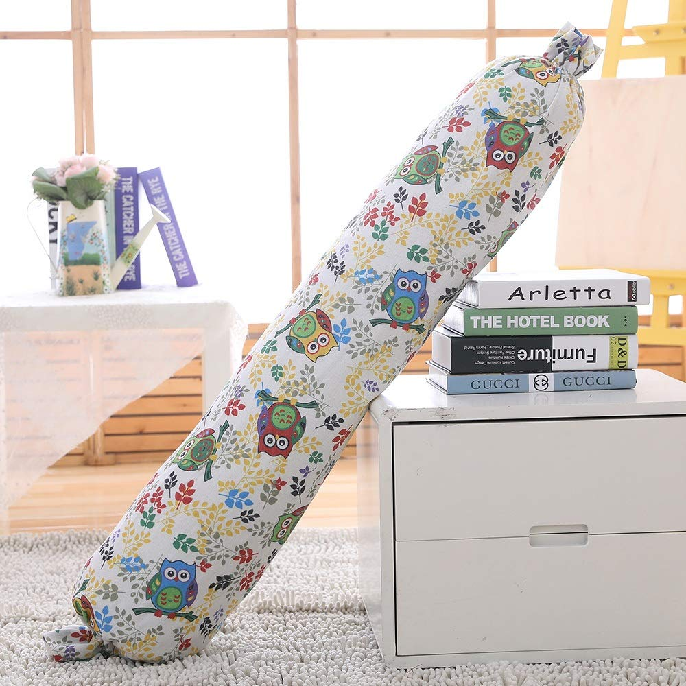 Color : Pattern A, Size : 120cm//48inch Linen Bolster Roll Pillow Candy Pillow Cylinder Long Lumbar Pillow Pregnancy Pillows Neck Pillow Back Support for Home Bed Sofa Cushion Decorative