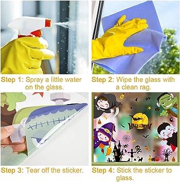 B UMIPUBO No/ël Autocollants Fen/être D/écoration P/ère No/ël /à lenvers Stickers Flocon de Neige pour DIY Fen/être Murale de Porte D/écoration