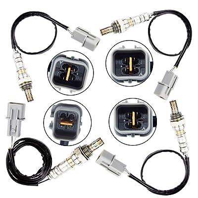 4 Oxygen Sensor for 2002 2003 2004 2005 Hyundai Sonata 2.7L Upstream + Downstream: Automotive