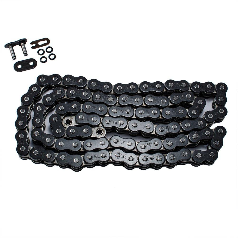 Heavy Duty Black O Ring Drive Chain 520x150 ORing 520 Pitch x 150 Links O-Ring