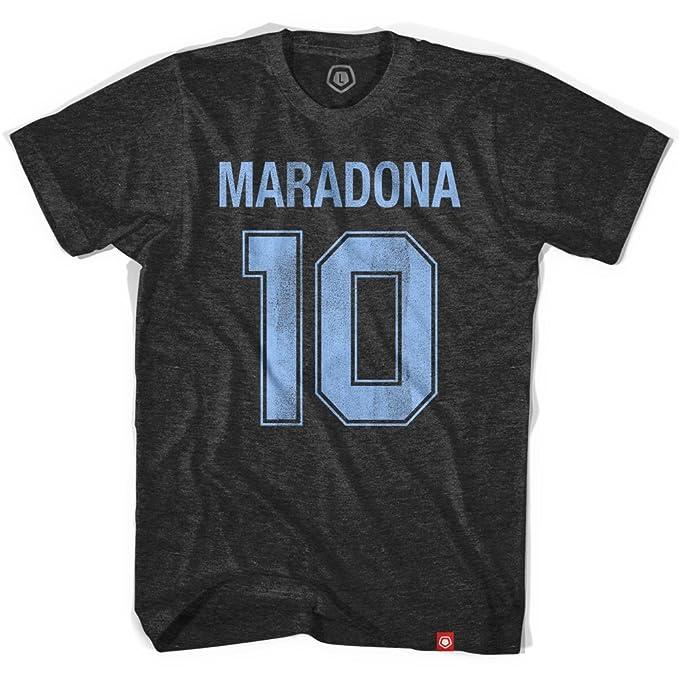 Diego Maradona Camiseta de fútbol 10 Negro Negro Vintage xx-large