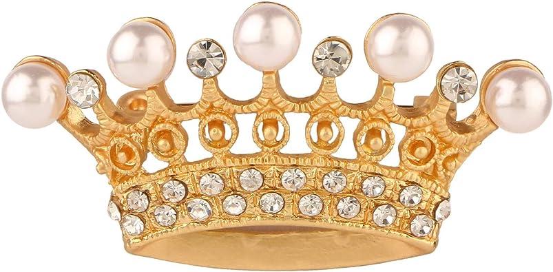 Amazon Com Efulgenz Crystal Rhinestone Pearl Crown Bridal Brooch