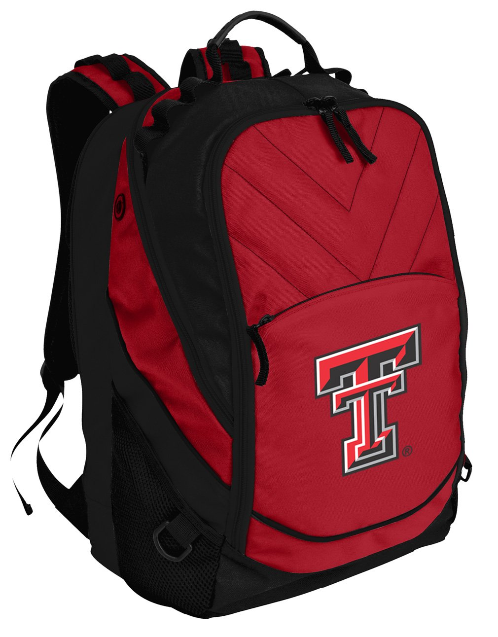 Broad Bay Texas Tech Red Raiders Backpack Red Texas Tech Laptop Computer Bags by Broad Bay
