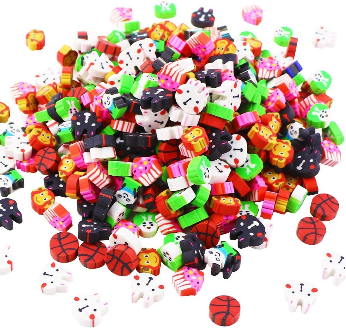 UPlama 400Pcs Assorted Adorable Collection Mini Eraser,Bulk School Erasers for Our Kids Gift