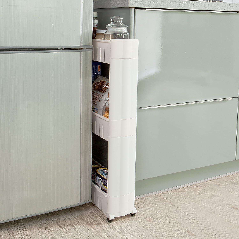SoBuy® FRG40-W étagère placard alcôve tour de rangement à ...