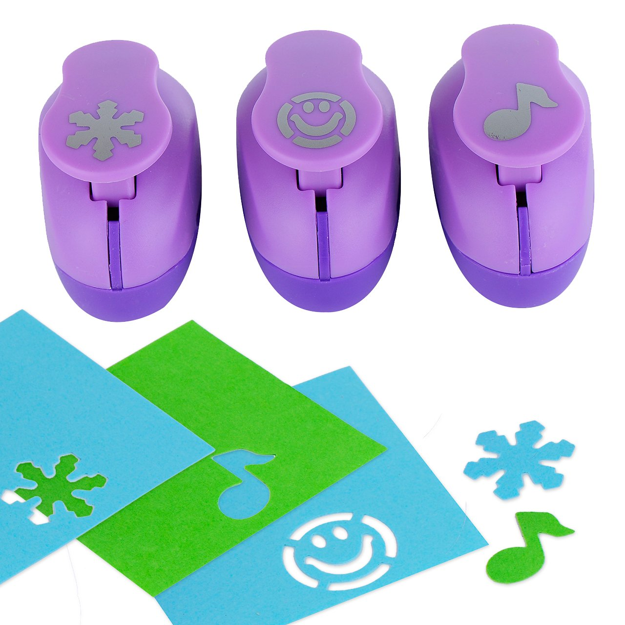 Amazon paper punch hole puncher 3 pack musical note snow amazon paper punch hole puncher 3 pack musical note snow flake happy face personalized paper craft punchers shapes set for scrapbook jeuxipadfo Choice Image