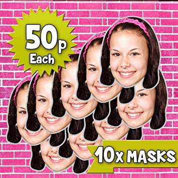 10 x Personalised DIY CUSTOM Cardboard Face Masks Hen Stag Party Masks!
