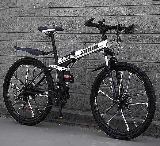 Miwaimao Bicicleta de montaña plegable 24/26 pulgadas, bicicleta ...